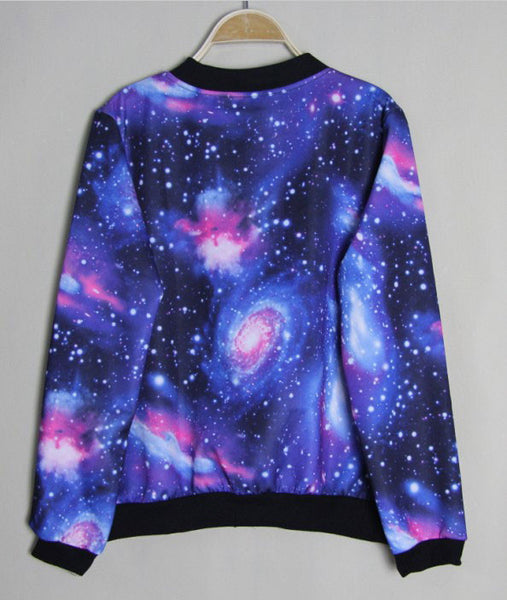 Fashion Gradient Universe Star Jacket &Sweater - lilyby