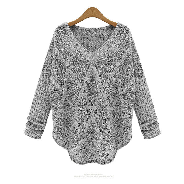 Unique Diamond Pierced Long-sleeved knit &Cardigan