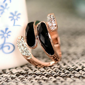 New Rose Gold Rhinestone Rings - lilyby