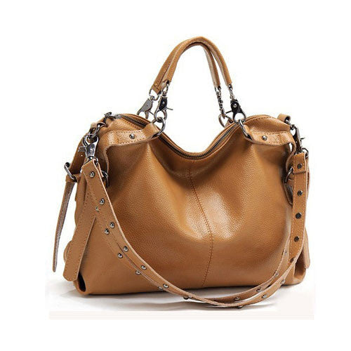 New Rivet Casual Leather Shoulder Bag&Handbag - lilyby