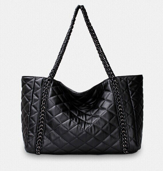 Classic Diamond Pattern Chain Shoulder Bag Handbag - lilyby