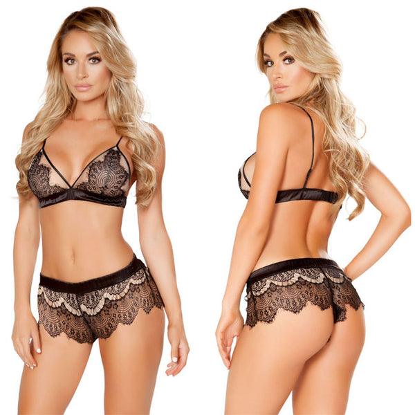 Sexy Pants Lace T-pants High Waist Sling Women Bra Set Underwear  Intimate Lingerie