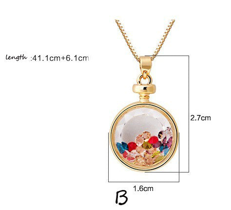 Colorful Wishing Crystal Bottle Pendant Necklace - lilyby