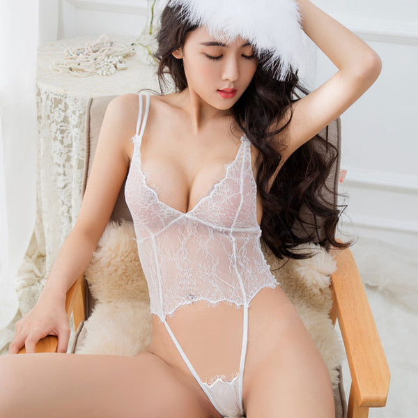 Sexy Hollow Conjoined Intimate  Slim Lace Lady Lingerie