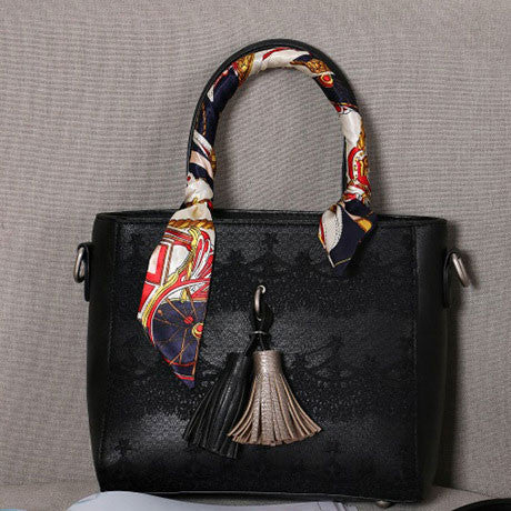 Lace Scarf Fringed Handbag Shoulder Bag Messenger Bag