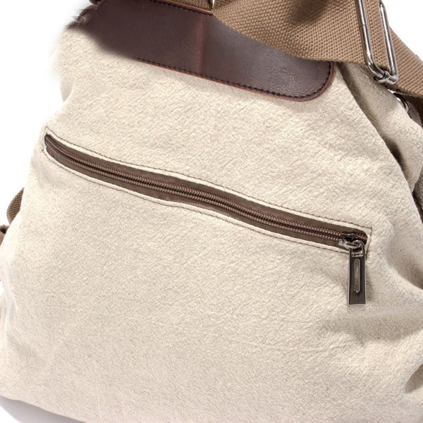Cotton Cloth Minimalist Backpack Schoolbag Travel Backpack