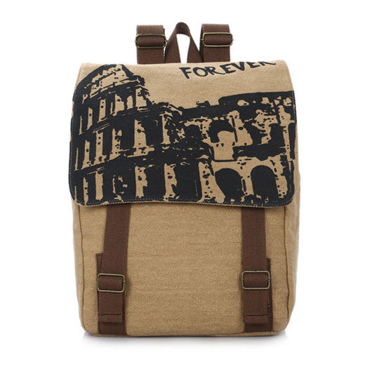 Forever British Fashion School Canvas Backpack - lilyby