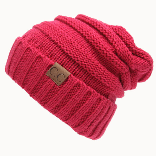 Toasty Wool Knit CC Beanie Warm Hat Women's Knit Beanie Hats