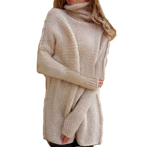 Hollow Out Anti Knitting Large Size Sweater Turtleneck Sweater