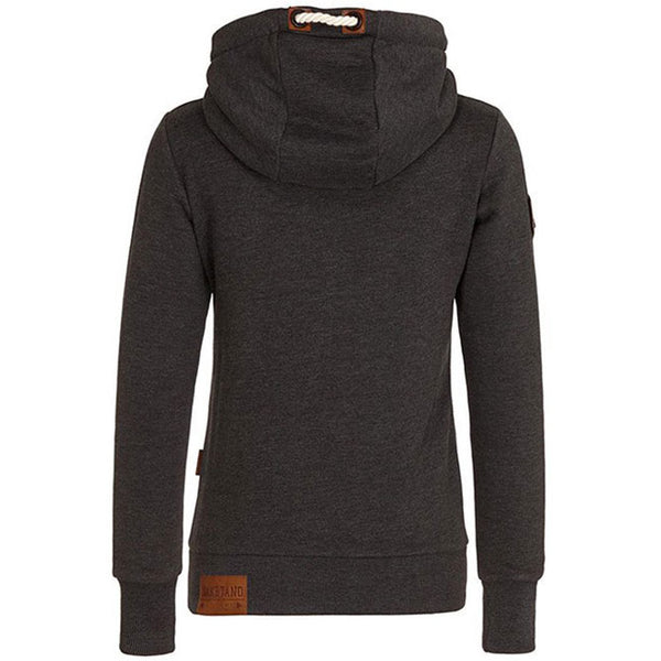 Pure Color Fall Winter Hoodie Outfit Girls Sport Cashmere Top Women Sweater