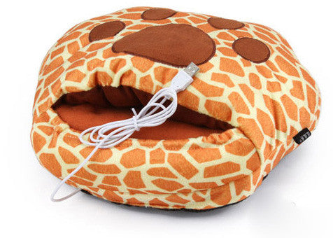 Leopard claw USB Heating Shoes/hand Warmer - lilyby