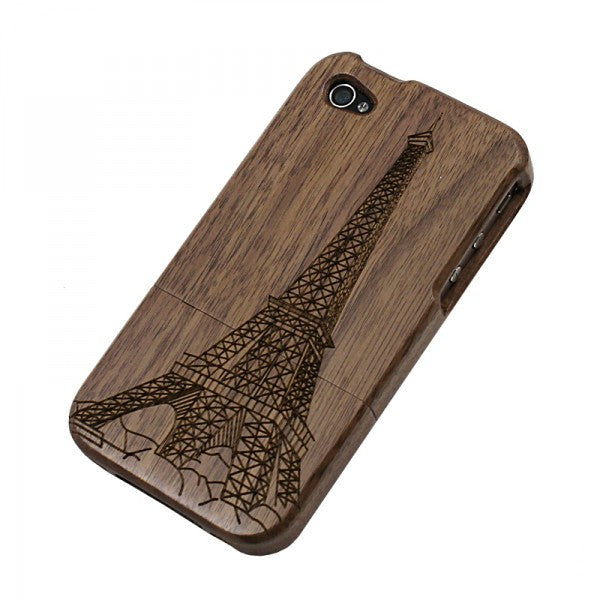 Retro Eiffel Tower  Walnut iPhone  Case For  Iphone 4 / 4s/5 - lilyby