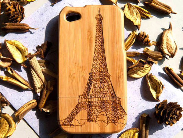 Eiffel Tower Bamboo iPhone 4 / 4S Case - lilyby