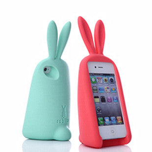 Cute Rabbit Storage Silicone Case For Iphone 4/4S/5/6 - lilyby