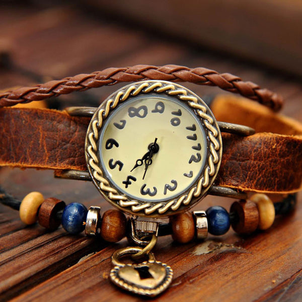 Handmade Heart Lock Bracelet Watch - lilyby