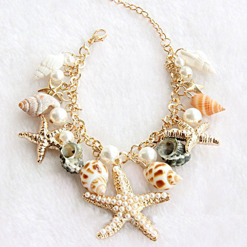Conch Starfish Summer Beach Bracelet - lilyby