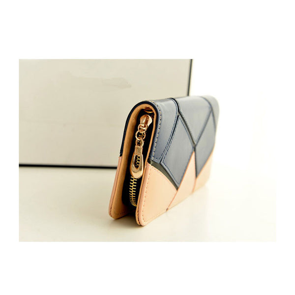 New Geometry Contrast Color Wallet - lilyby