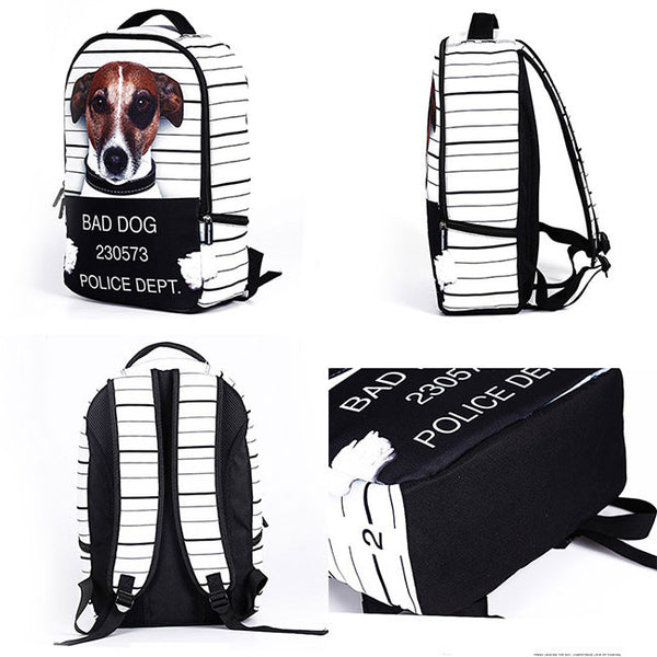 Cute Starry Sky Large Travel Backpack Punk Cute Dog Panda Cat Animals Galaxy Backpack