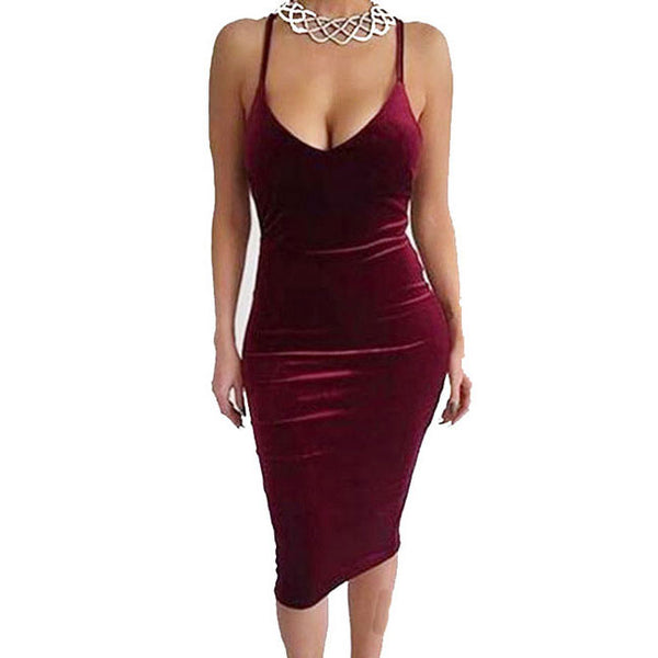 Sexy Women's Pure Backless Crossover Straps Braces Skirt Dress