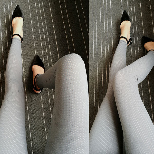 Sexy Girl's Whole Color Mesh Thin Ice Silk Sun Block Ninth Leggings