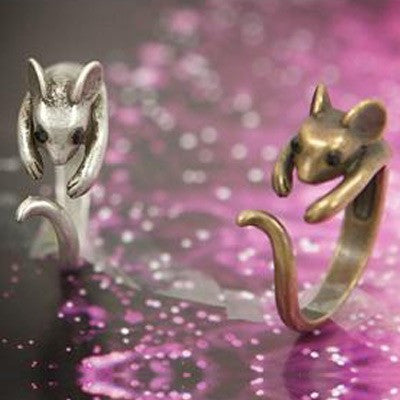 Cute Mouse Opening Animal Wrap Rings - lilyby
