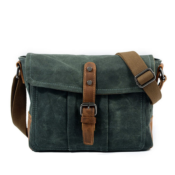 Retro Single Belt Men's Leisure Canvas Waterproof Shoulder Bag Messenger Bag