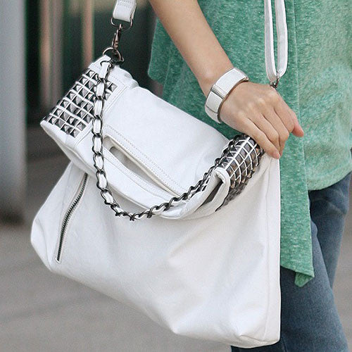 Simple Punk Rivet Handbag & Shoulder Bag