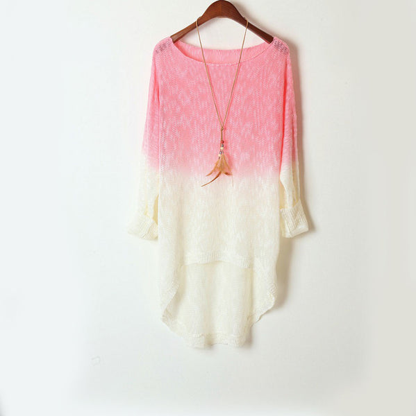 New Irregular Gradient Sweater - lilyby