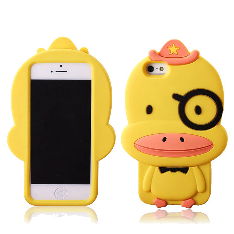 Cartoon Yellow Duck Silicone Iphone 4/4s/5 Case - lilyby