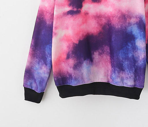 Fashion Cosmic Ocean Sky Gradient Sleeve Sweater - lilyby