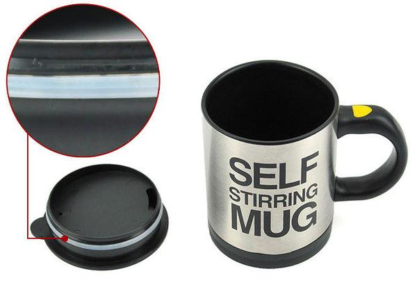 Funny Stainless Steel  Lids Electric Coffee Mug Cup - lilyby