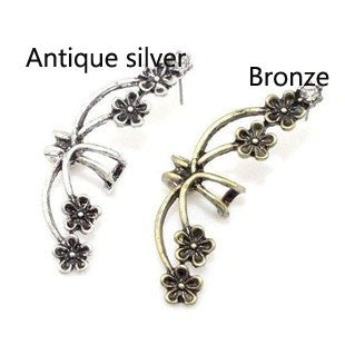 Cheap Retro Exaggerated Flower Single Earring Clip - lilyby