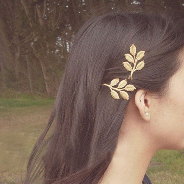 Retro Olive Branch Leaves Bride Hairpin Beautiful Forest Style Hair Accessory