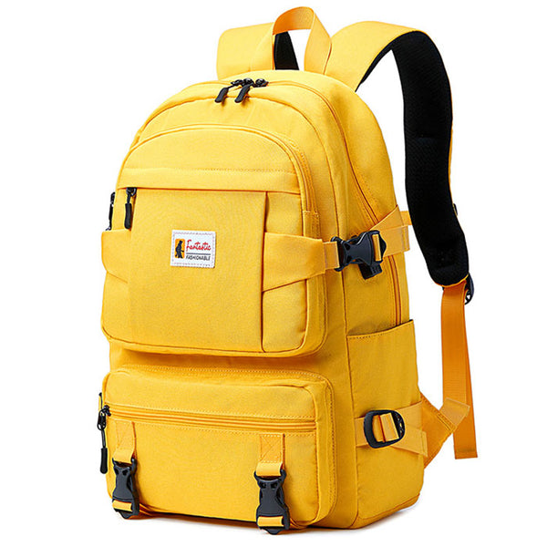 Casual Four Buckle Large Capacity Outdoor Waterproof Backpack Middle School Student School Bag