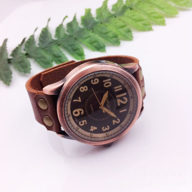 Handmade Multi-scale Retro Leather Watch - lilyby