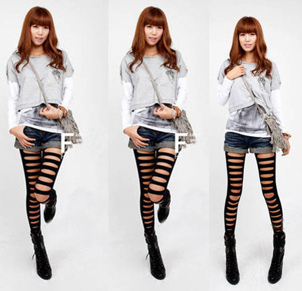 New Fashion Black Hole Leggings/Pantyhose - lilyby