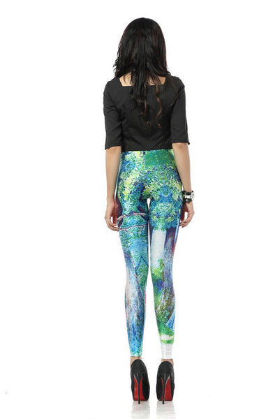 New Cheshire Cat Printed Leggings - lilyby