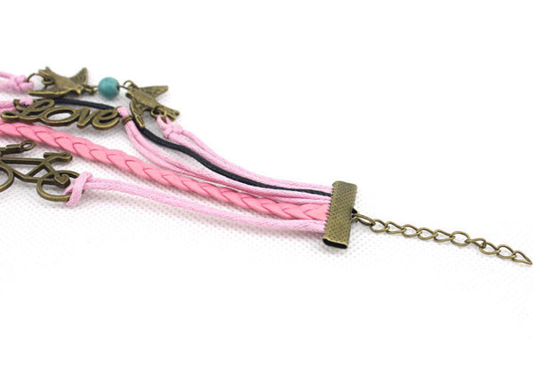 New Double Swallow Bikes Love Infinity Bracelet - lilyby