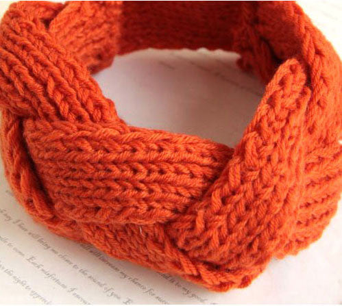 New Twisted Spiral wool hair band knitted headband - lilyby