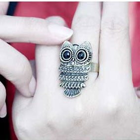 Cute Cheap Accessory Owl Ring - lilyby