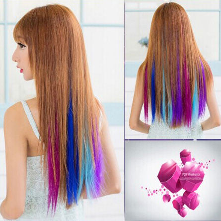 Latest Many Colors Clip Hair Extensions - lilyby