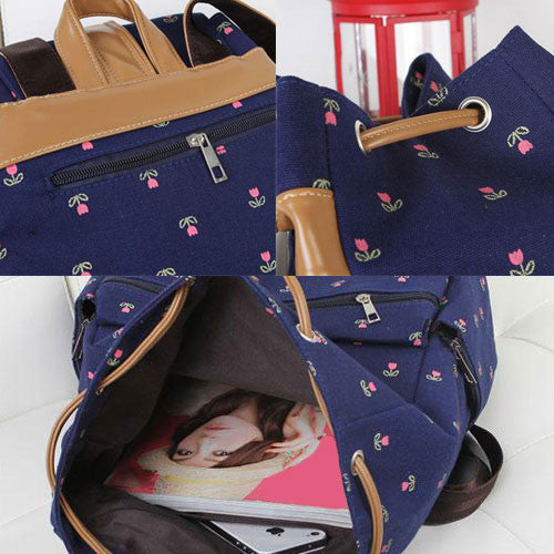 Latest Floral School Backpack - lilyby