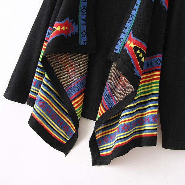 Unique Ethnic Geometric knit &Cardigan