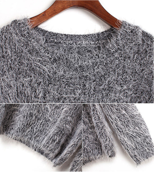 Cheap New Pure Color Mohair Sweater&Cardigan - lilyby