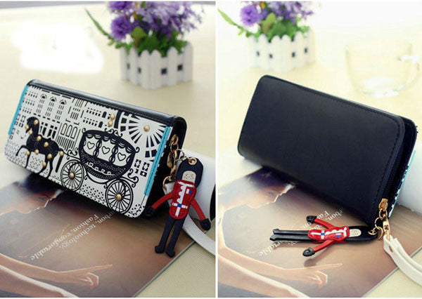 New Cartoon Original  Carriage Clutch Bag& Wallet - lilyby