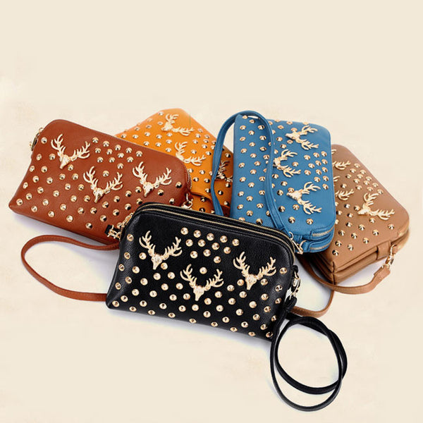 Retro Buck Head Rivet Shoulder Bags - lilyby