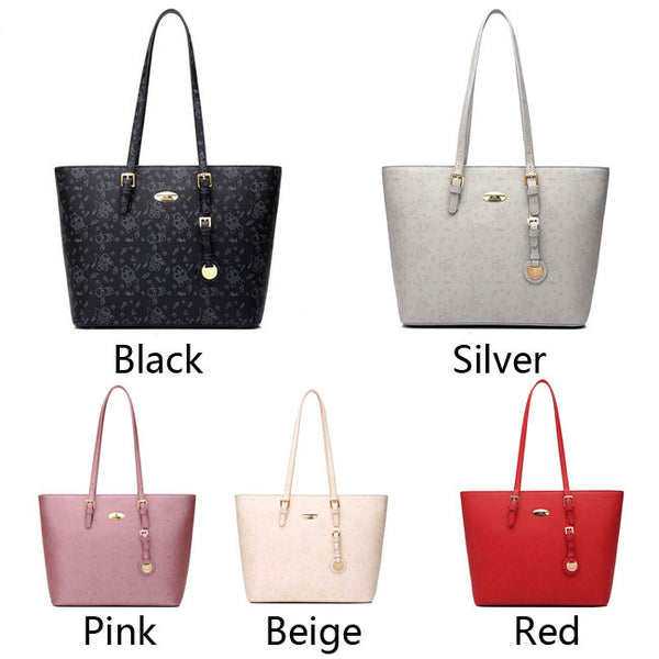 Elegant Simple Printing Satchel Bag Embroidery Women Tote Bags Handbag