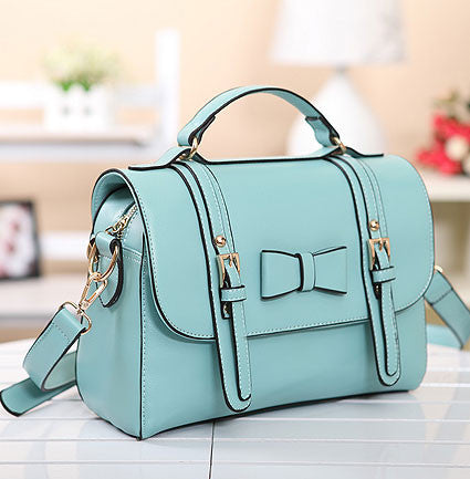 Retro Mint Green Bowknot Messenger&Shoulder Bag - lilyby