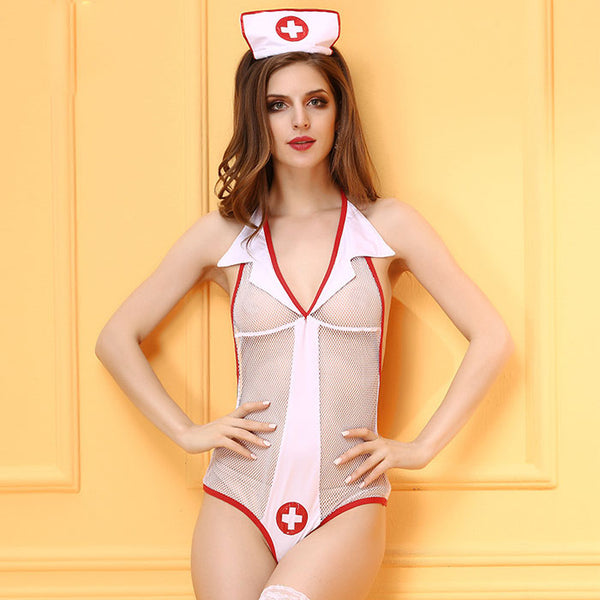 Sexy Cosplay Perspective Nurse Cosplay Costume Role  Conjoined Teen Lingerie