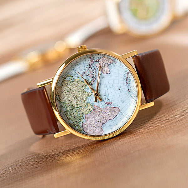 Retro watches lilyby cute retro world map watch lilyby sciox Choice Image